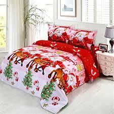 JARSON <b>4Pcs Merry Christmas</b> Bedding Set King Size,3D Santa ...