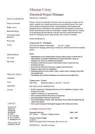 electrical project manager resume  electrician  voltage  example    electrical project manager resume