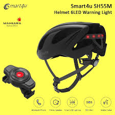 <b>Smart4u SH55M Helmet</b> 6LED Warning Light helm sepeda roadbike ...