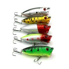 10PCS hard plastic popper <b>fishing lures</b> 13g <b>6.5cm</b> 6#japan hooks ...