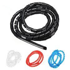 <b>Spiral Wire</b> Wrap Tube Manage <b>Cord</b> 6-<b>60mm</b>, <b>2M</b> Black | Shopee ...