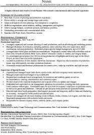 event planning resume samples visualcv resume samples database    note click save event planner resume page