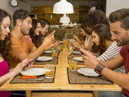 Image result for Checking your phone during a conversation.