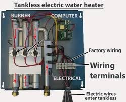 how to wire tankless electric water heater this example shows tankless terminal connections for 3 wires larger image