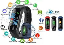 <b>Smart Band Watch Bracelet</b> Wristband Fitness Tracker Blood ...
