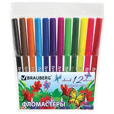 "<b>Фломастеры BRAUBERG</b> ""<b>Wonderful butterfly</b>"", 12 цветов – купить ..."