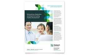 flyer templates  sample flyers amp examples pediatric doctor flyer template