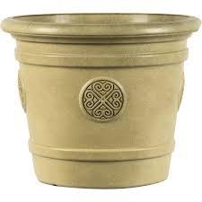 <b>Горшок</b> цветочный «Medallion» D50, <b>40л</b>., пластик, Зеленый в ...