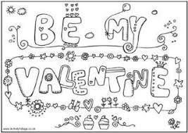 Small Picture Valentines Day Colouring Pages