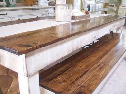 pottery barn style dining table: magnificent high gloss finishing brown walnut long rustic dining table with inspiring farm house furniture ideas