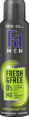 <b>Дезодорант</b>-спрей <b>Fa</b> Men <b>Fresh&Free</b> Ментол-бергамот з ...