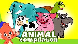 Learn <b>Animals</b> for Kids   <b>Animal Cartoon</b> Compilation for Children