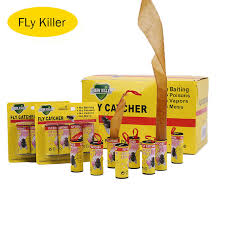 <b>4 Rolls/pack Insect Bug</b> Fly Glue Paper Fly Killer Catcher Trap ...