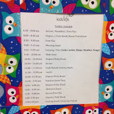 daily schedule in daycare printable editable blank calendar  welcome to kids life daycare at grace life church monroeville