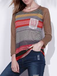 Dropshipping for <b>Fashionable Colorful Scoop Neck</b> Asymmetrical ...