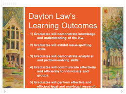how lrw faculty can contribute to their law school s assessment 34 dayton law s learning outcomes 1 graduates will demonstrate knowledge and understanding of the law