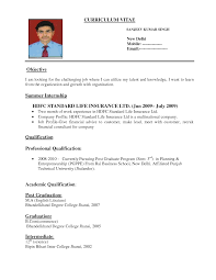format of a job resume template format of a job resume