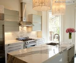 calacatta marble kitchen waterfall: light filled brownstone kitchen kitchen light filled brownstone kitchen