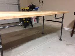 flip it and sand it black iron pipe table