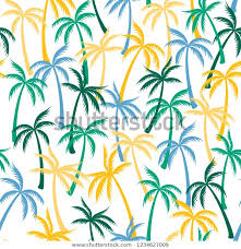 Coconut <b>Palm Tree</b> Pattern Textile Seamless Stock Image ...