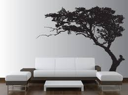 palm tree wall stickers: large tree wall decal living room decor