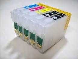 [<b>EMPTY Refillable Ink Cartridge</b> SET] for Epson Workforce WF 30 ...