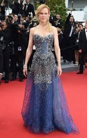 Nicole Kidman was breath taking in a blue Armani jewel encrusted ...