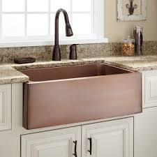 hammered copper kitchen sink: quot kembla copper farmhouse sink  l kembla copper farmhouse sink medium antique copper