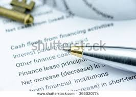 financial Statement quot  Stock Photos  Royalty Free Images  amp  Vectors     Shutterstock Blue ballpoint pen on a firm     s annual report when the statement of cash flows has been
