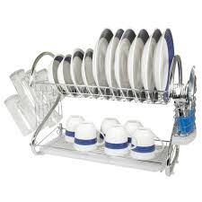 Kitchen Racks Stainless Steel High Quality Stainless Steel 2 Tier Kitchen Dish Rack Kilimall Kenya