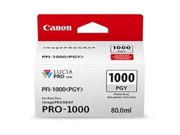 <b>Canon PFI</b>-<b>1000 PGY</b> LUCIA PRO <b>Photo</b> Gray Ink Cartridge (80ml)