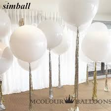 10pcs <b>36 Inch</b> 90cm <b>Big</b> White <b>Balloon</b> Latex <b>Balloons</b> Wedding ...