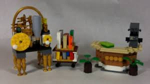Lego Furniture How To Build Lego Library Furniture Youtube