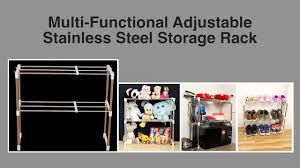 How to use <b>Multi-Functional</b> Adjustable <b>Storage Rack</b> - YouTube