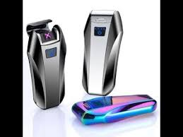 Touch Sensor <b>Dual Arc USB Electric</b> Rechargeable Lighter - YouTube