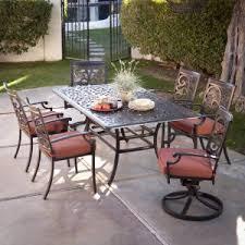 patio dining: belham living san miguel cast aluminum  piece patio dining set seats