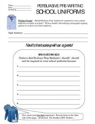 ARGUMENT ESSAY WRITING School Uniforms  Overview The steps to     persuasive essay on school uniforms jpg