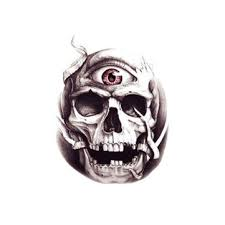 <b>1pcs</b> halloween <b>3d</b> crossbones big <b>eyes</b> horror tattoo sticker skull ...