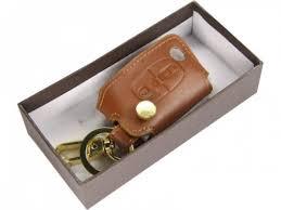 <b>Кожаный чехол для ключа</b> зажигания для Citroen Коричневый цвет
