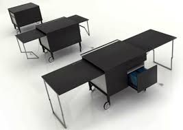desks on casters desk office table black rolling mobile office black office table