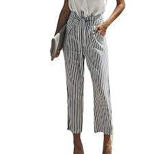 Buy Oksale Baby Girl's High Waist <b>Stripe Wide Leg</b> Pants Large ...