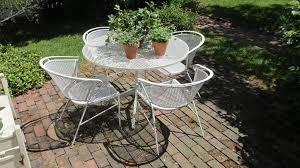 vintage rod iron patio furniture antique rod iron patio