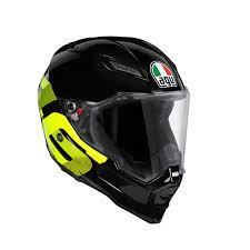 Ax-8 Evo Naked E2205 Top - Identity <b>Black</b>/<b>Yellow</b> - AGV Helmets