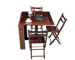 Home and Bazaar Stripe Top <b>Folding Dining</b> Table <b>6</b> Seater with 3 ...