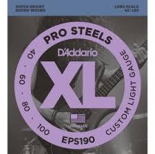 <b>D'Addario EPS190</b> - <b>струны</b> для БАС-гит, Long, 40-100