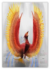 Календарь А2 <b>Птица феникс</b> #1661595 от madam - <b>Printio</b>
