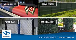 Solid Vinyl Privacy Fence Fabric Screen <b>Factory Direct</b>