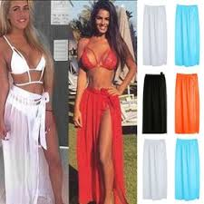 New Women Sexy Chiffon Wrap Dress Sarong Pareo Beach ... - Vova