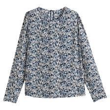 <b>Блузка</b> с <b>круглым</b> вырезом, цветочным рисунком и длинными ...