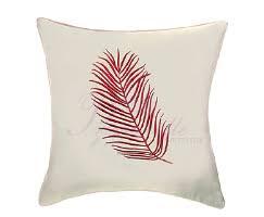 <b>Подушка декоративная с</b> вышивкой Перо – купить в интернет ...